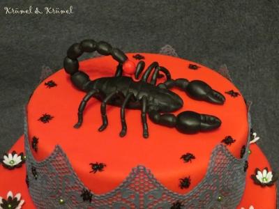 Bildergebnis für geburtstagskuchen skorpion